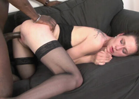 Samantha's fucking in her sexy stockings